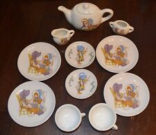 Vintage Child's Holly Hobbie Tea Set 12 Piece Ceramic byChilton, Teapot