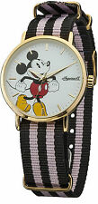 Disney/Ingersoll DIN009GDPK Mickey Mouse Watch with Black/Pink Strap