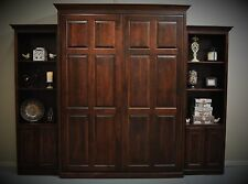 "Custom Built Queen Murphy Bed with 24"" Cabinets"