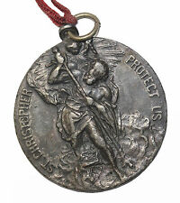 Early 20th Century St. Christopher Proctect Us Automobile Medal