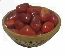 Carnelian Pebbles Tumbles Beads Power Stone - Reiki & Crystal Healing Therapy