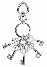 NEW Juicy Couture Key Ring fob Purse Charm JUICY crystal script keys