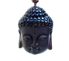 REIKI ENERGY CHARGED CRYSTAL STONE 100% NATURAL BLACK OBSIDIAN BUDDHA PENDANT