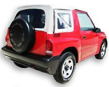 1995-1998 Suzuki Sidekick & Geo Tracker Soft Top with Clear Windows in White