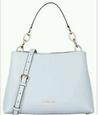 NWT Michael Kors Portia Large Saffiano White Leather East West Shoulder Bag $358