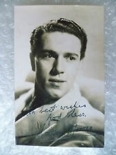 Postcard- KIERON MOORE with printed Autograph (Irish Film & Television Actor)