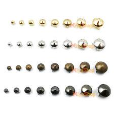 50/100 X Round Cone Studs Spikes 4-12mm Rivets Gold Silver Copper Black Punk DIY