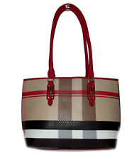 NEW Red black white beige plaid shoulder Handbag tote purse Satchel Fashion bag