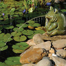 NEW Ceramic Frog Water Spitter Pond Aerator Fountain Garden Decorative Outdoor