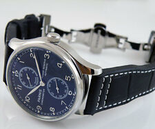 43mm Parnis black dial Power Reserve Mechanical automatic deployment Watch 039