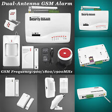 Home Security Burglar Auto Dialer Wireless GSM Alarm Systems SMS SIM Call 433MHz