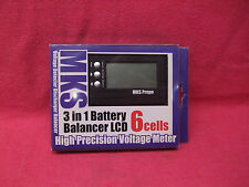 *NICE DEAL* MKS PROPO 3 IN 1 BALANCER LCD 2-6 CELLS HIGH PRECISION VOLTAGE METER
