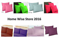 New Plain Dyed Poly Cotton Housewife Pillow Cases- Free Postage