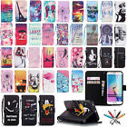 Hot Pattern Magnetic PU Leather Wallet Case Stand Flip Cover For Samsung Phones