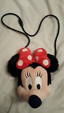 Disney Parks Minnie Mouse Plush coin Purse with clasp