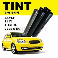 Cool ! Black Glass Window Tint Shade Film VLT 5% Auto Car House Roll 50cm*1M