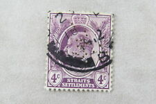 stamp Malaya Straits John Little & Co Perfin General Merchants Singapore