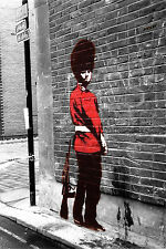 Banksy art  poster  Queen's Guard A2 SIZE