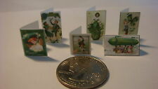 6 Miniature  Vintage St Patrick Paddy Day Cards   - Dollhouse 1:12 scale