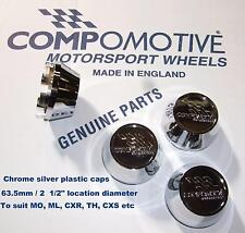 4 Genuine CHROME caps for COMPOMOTIVE alloys MO TH2 ML CXR TH Mono