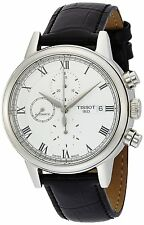 Tissot Carson Chronograph White Dial Black Leather Mens Watch T0854271601300