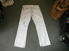 "Abercrombie & Fitch Hand Crafted Jeans W 32"" L 30"" Faded Light Blue Mens Jeans"