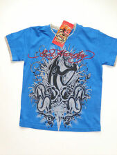 NWT Boys Ed Hardy Blue Short Sleeve Panther Cobra Snake Shirt 5 6 NEW Spring