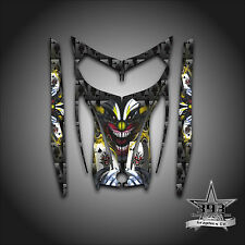 SKI-DOO REV MXZ SNOWMOBILE SLED WRAP GRAPHICS HOOD DECAL 03-07 EVIL JOKER YELLOW
