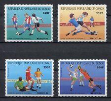s5967) CONGO 1986 MNH** World Cup Football'86 - Coppa del Mondo Calcio 4v.