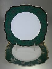 Wedgwood Sterling Holiday Green Square Salad Plates Set of 2 Made in England