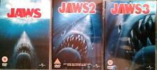 JAWS TRILOGY 1,2,3 [One,Two,Three] Steven Spielberg Shark Thriller DVD *EXC*