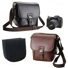 1x Vintage Stylish Leather Camera Bag DSLR Shoulder Strap Messenger Bag