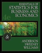 Essentials of Statistics for Business and Economics (with CD-ROM and InfoTrac )