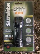 Sunlite 51003-SU AAA Tactical Flash Light with Red Laser - Water Resistant - NEW