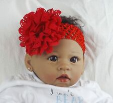Baby Girl Hairband Red Soft large Flower Party Gift UK Seller New