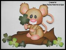 Clover Mouse Premade Paper Piecing Die Cut for Scrapbook Page by Babs