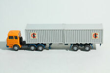 """524 Typ 3D Wiking Stahlcontainer LPS 2223 """" ICS """" 1976 - 1977 / orangegelb"""