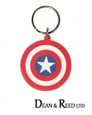 Marvel (Captain America Shield) RUBBER KEYRING / KEYCHAIN BY PYRAMID