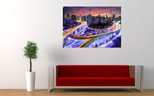 HONG KONG SKYLINE NIGHT NEW GIANT LARGE ART PRINT POSTER PICTURE WALL