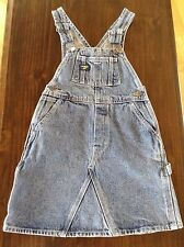 Osh Kosh B' Gosh Girls Overalls Blue Denim Bib Dress Size 6 Jumper EUC