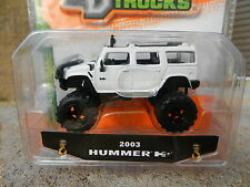 1:64 JADA TOYS *JUST TRUCKS 12* WHITE 2003 HUMMER H2 *NIP*