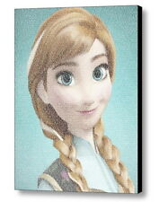 Frozen Anna For The First Time in Forever Lyrics Amazing Mosaic Framed Print LE