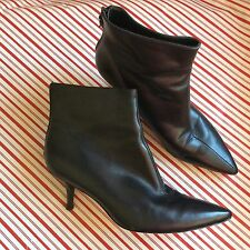 VIA SPIGA Ankle Boots Black Leather Sz 7