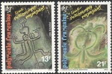 French Polynesia 1987 Rock Art/Turtle/Carvings/History/Heritage 2v set (n45313m)