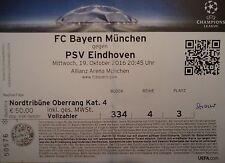 TICKET UCL 2016/17 Bayern Munich vs PSV Eindhoven