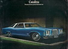 Pontiac Catalina 1974 USA Market Foldout Sales Brochure Hardtop Coupe Sedan