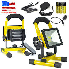 Rechargeable 30W 24LED Portable LED Flood Spot Work Light Camping Lamp 18650 Ch