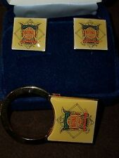 National Baseball League Presidential Cufflinks & Key Ring -Len Coleman 1996