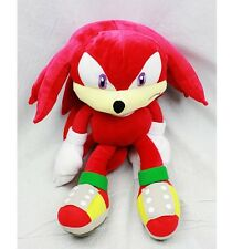"""Sega Sonic The HedgeHog Red Knuckles 20"""" Plush Backpack Tote 20""""-NEW with Tags!"""