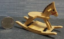 Dollhouse Miniature Oak Rocking Horse 1:12  one inch scale  G62